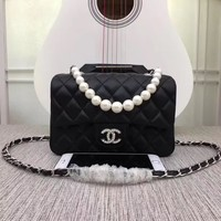 New CHANE Size 17cm20cm25cm Double C Women Leather silver and gold on Chain cross body bag Chane vintage Chanl jumbo   Fashion Handbag Neverfull Tote Shoulder Bag Wallet Messenger Bags
