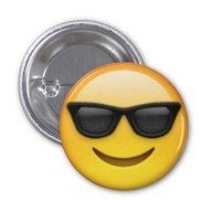 Sunglasses Emoji Pin