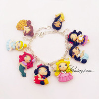 Handmade bracelet Disney Princess Inspired  by AlchemianShop