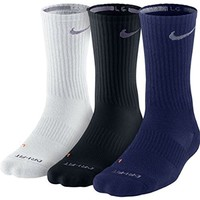 Nike Dri-fit Cushioned Crew Socks Navy, White, Black,8-12