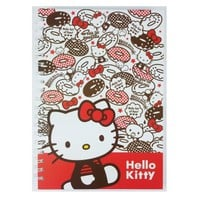 Hello Kitty Hard Cover Spiral Notebook : Donut $10.99