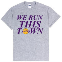 "Lakers ""We Run This Town"" Shirt - Grey"