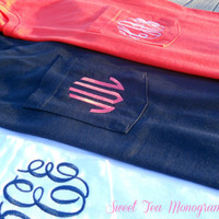 Short Sleeve Pocket Monogram T-Shirt