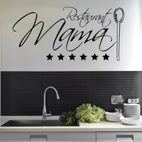 Restaurant Mama Wall Decal