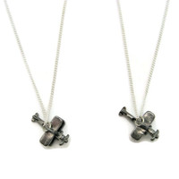 Airplane Necklace Set Best Friends Mother Daughter Jewelry Plane Jewelry Plane Necklace Set Sibling Jewelry Set  Matching Necklace
