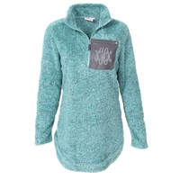 Monogrammed Sherpa Pullover Tunic   Marleylilly
