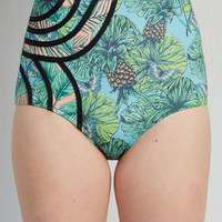 Set the Serene Swimsuit Bottom in Pineapples   Mod Retro Vintage Bathing Suits   ModCloth.com