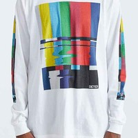 Deter Test Pattern Long-Sleeve Tee- White
