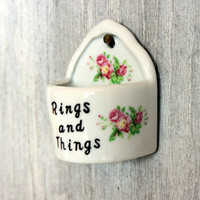 ring holder // vintage nanco rings and things // wall mounted // japan