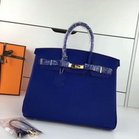 Beauty Ticks Hermes Women's Leather Birkin Handbag Inclined Shoulder Bag #702