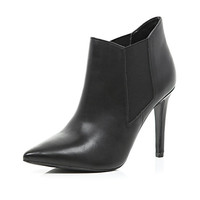 River Island Womens Black point stiletto ankle boots