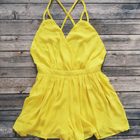 Summer Nights Romper (Yellow)