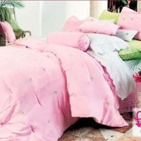 Lilly Pulitzer Pink Bedskirt - Palm Dream