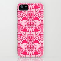 Flamingo Damask iPhone & iPod Case by Jacqueline Maldonado