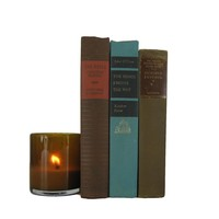 Vintage Books for Decoration in Blue and Brown