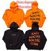 ANTI SOCIAL SOCIAL CLUB Hoodies Men Women 1:1 High Quality Hoodie Sweatshirt ASSC Pullover Hip Hop Kanye West Undefeated Jacket