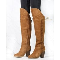 Sbicca - Gusto Over the Knee Suede Leather Boots in Tan