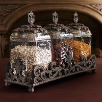 GG Collection Three Glass Canisters