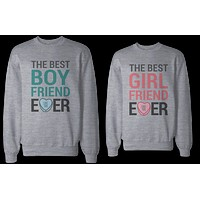 Best Boyfriend and Girlfriend Ever Couple Sweatshirts Valentine's Day Gift