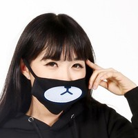 Hot Unisex Face Mouth Mask Cartoon Bear Black Woman Man Reusable Warm Cycling Soft Winter Dustproof Anti-fog Cotton Anti Dust