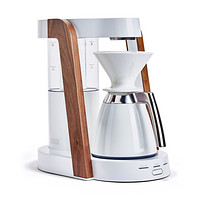 Ratio - Eight + Thermal Carafe Package White Walnut Handblown Glass Coffee Maker