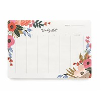 Rifle Paper Floral Weekly Desk Pad
