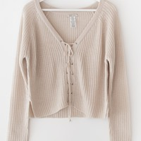 Front Lace Sweater