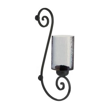 Candle Wall Sconces Smoked Glass Wall Sconce