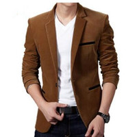 New French Velvet Blazer Mens Single Breasted Solid Men Suits Jacket Business Casual Dress