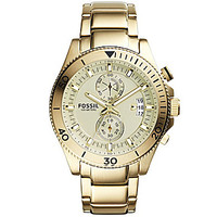 Fossil Men's Wakefield Chronograph Gold Tone Stainless Steel Watch - G