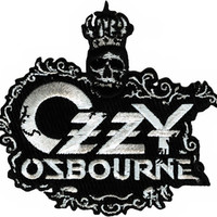 Ozzy Osbourne Iron-On Patch Crown Logo