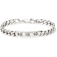 Gucci - GucciGhost Engraved Sterling Silver ID Bracelet
