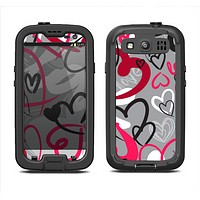 The Vector Love Hearts Collage Samsung Galaxy S4 LifeProof Fre Case Skin Set