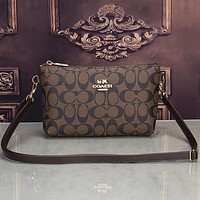 Coach Women Shopping Fashion Leather Shoulder Bag Crossbody Satchel