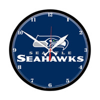 Seattle Seahawks NFL Round Wall Clock