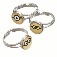 Minions 3-pk. Face Dome Rings - Kids (Grey)