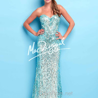 Strapless Sweetheart Formal Prom Gown By Mac Duggal Flash 4118L