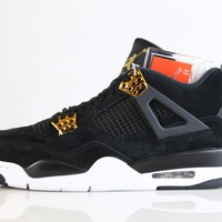 BC DCCK Nike Air Jordan Retro 4 Royalty Black Metallic Gold 308497-032 2017 Adult and GS 3.5y-15