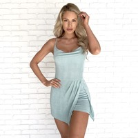 In The Moment Romper in Baby Blue