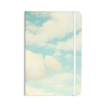 """Sylvia Cook """"Clouds"""" Blue White Everything Notebook"""