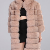 Lenai Nude Fur Coat