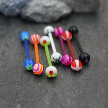 UV Acrylic 14G Barbell