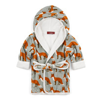ZEBI HOODED BATH ROBE- ORANGE FOX
