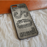 Lost TV Series Quotes iPhone 5   5S   SE Case