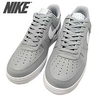 Nike Air Force 1 07 Trending Women Men Stylish Sports Running Shoes Sneakers Grey I/A