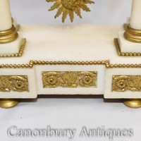 Canonbury - French Empire Marble Mantle Clock Ormolu Fixtures Classical