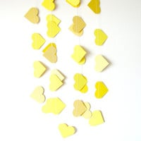 Yellow Heart Garland - paper heart garland, home decor, kids room decor, nursery decoration, party decor