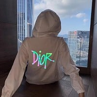 Dior 2020 new simple and wild colorful logo letter sun protection suit