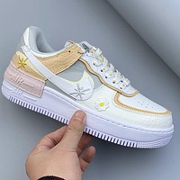 Nike Air Force 1 AF1 Little Daisy Lace Print Decorative Trend Sneakers Shoes