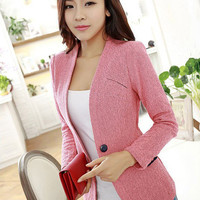 Single Buttoned Casual Blazer